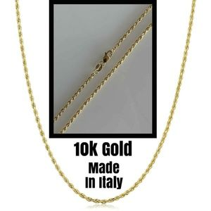 HarlemBling Solid 10k Yellow Rope Chain Necklace